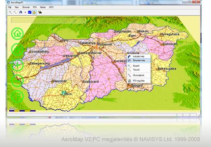 magyarország térkép szoftver AEROMAP 3D | GPS Navigáció   AeroMap V2|PC navigációs rendszer és  magyarország térkép szoftver